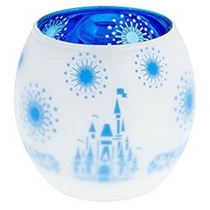 ❄️ Glass Frosted Cinderella Castle Candle Holder